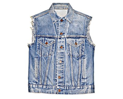 Denim jacket into a vest – Modern fashion jacket photo blog