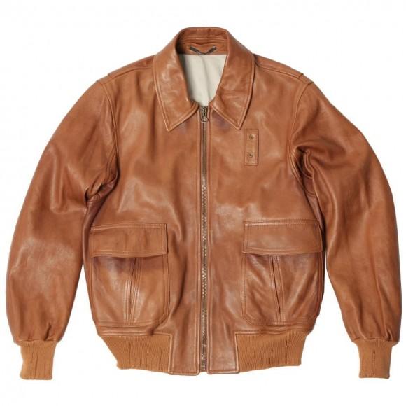 Lambskin leather jacket men