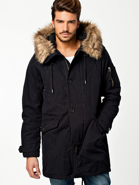 Black Parka Jacket Mens Photo Album - Reikian