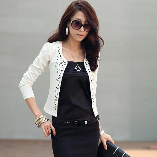 White Short Jacket - JacketIn