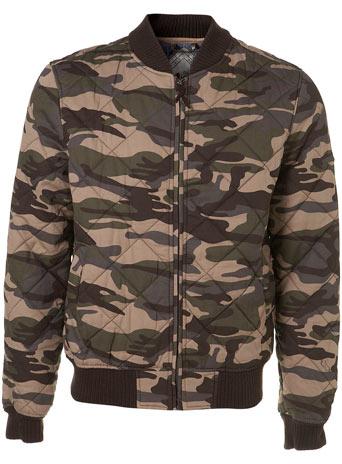 Bellfield Camo Bomber Jacket