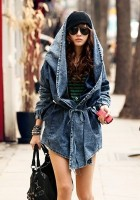 Big Hooded Jean Jacket
