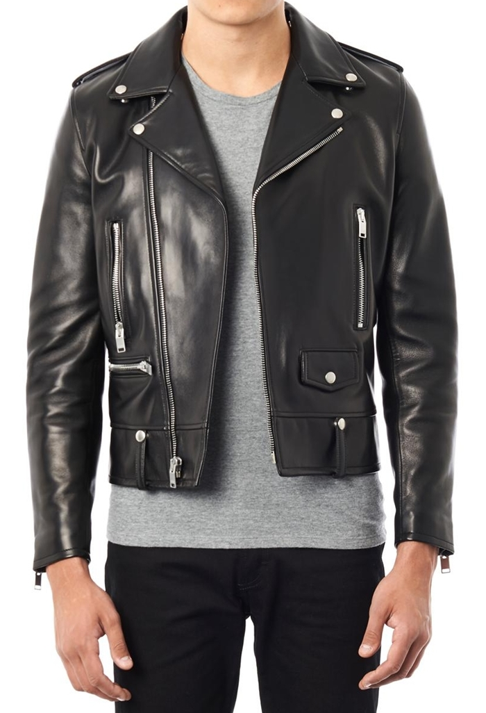 Mens leather biker jacket black – Modern fashion jacket photo blog