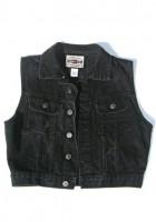 Black Jean Jacket Vest