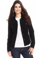 Black Jean Jacket Womens