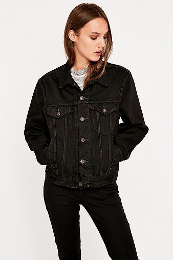 womens black denim jean jacket - Jean Yu Beauty