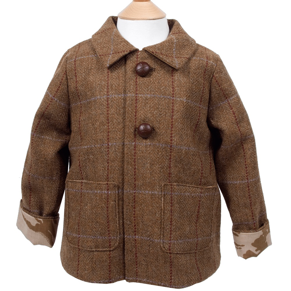 Shop for boys brown tweed jacket & waistcoat set, Alfie at Roco. Perfect as part of a page boy outfit with free UK delivery.