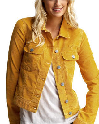 Corduroy Blazer: Classic fine-wale corduroy blazer gets a feminine update with gorgeous seaming for an ultra-flattering taradsod.tkes a single-button closure, notch lapel, slit pockets and a back vent. Golden buttons on the front and cuffs elevate the look.