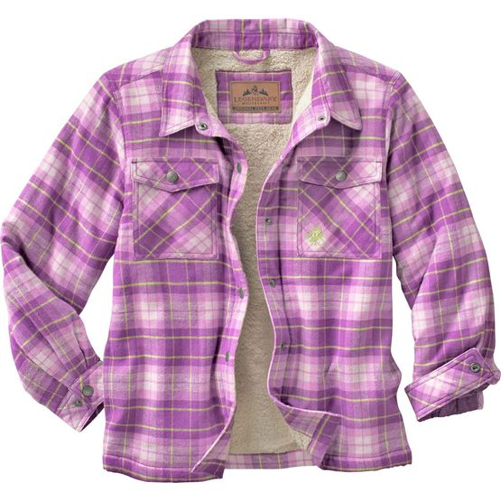 Womens Quilted Flannel Shirt - Quilting