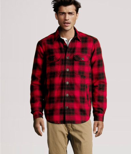 Flannel jackets jackets for How to wear men s flannel shirts