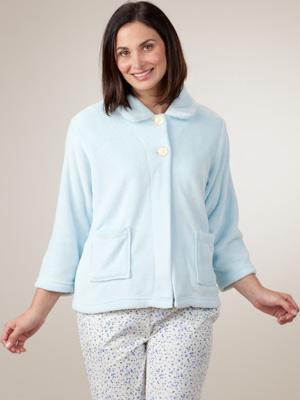 Cotton Bed Jacket Plus Size