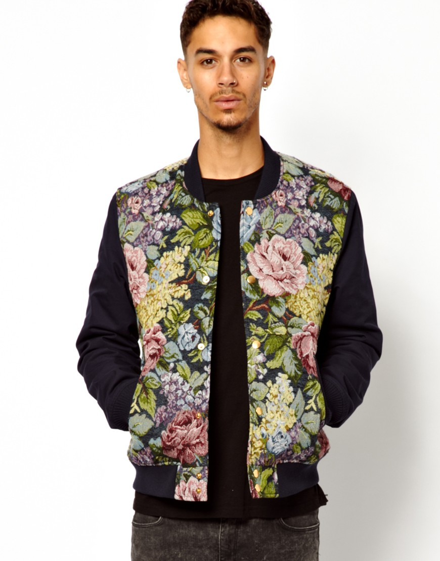 Mens Floral Bomber Jacket | Jackets Review