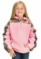 Girls Pink Camo Jacket