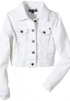 Girls White Jean Jacket
