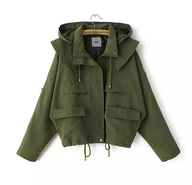 Womens army green military jacket