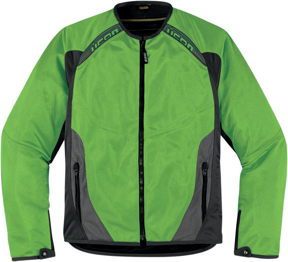 Green leather motorcycle jacket