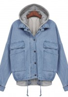 Hooded Blue Jean Jacket