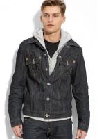 Hooded Jean Jacket for Men