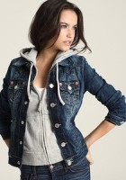 Hooded Jean Jacket for Women