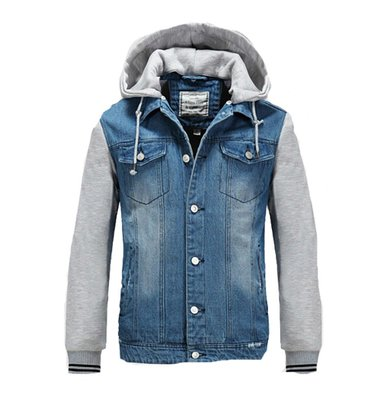 Denim Hooded Jean Jacket - Coat Nj