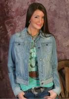 Ladies Cropped Denim Jacket
