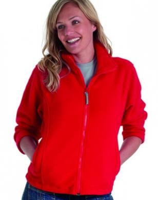 Ladies Red Fleece Jacket - Pl Jackets