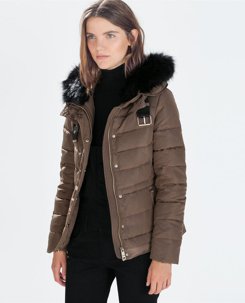 Puffer Jacket With Fur Hood - My Jacket