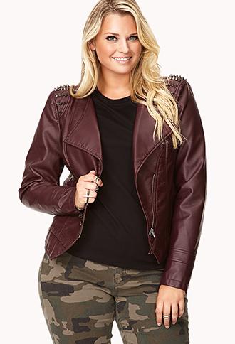 Ladies plus size real leather jacket – Modern fashion jacket photo ...