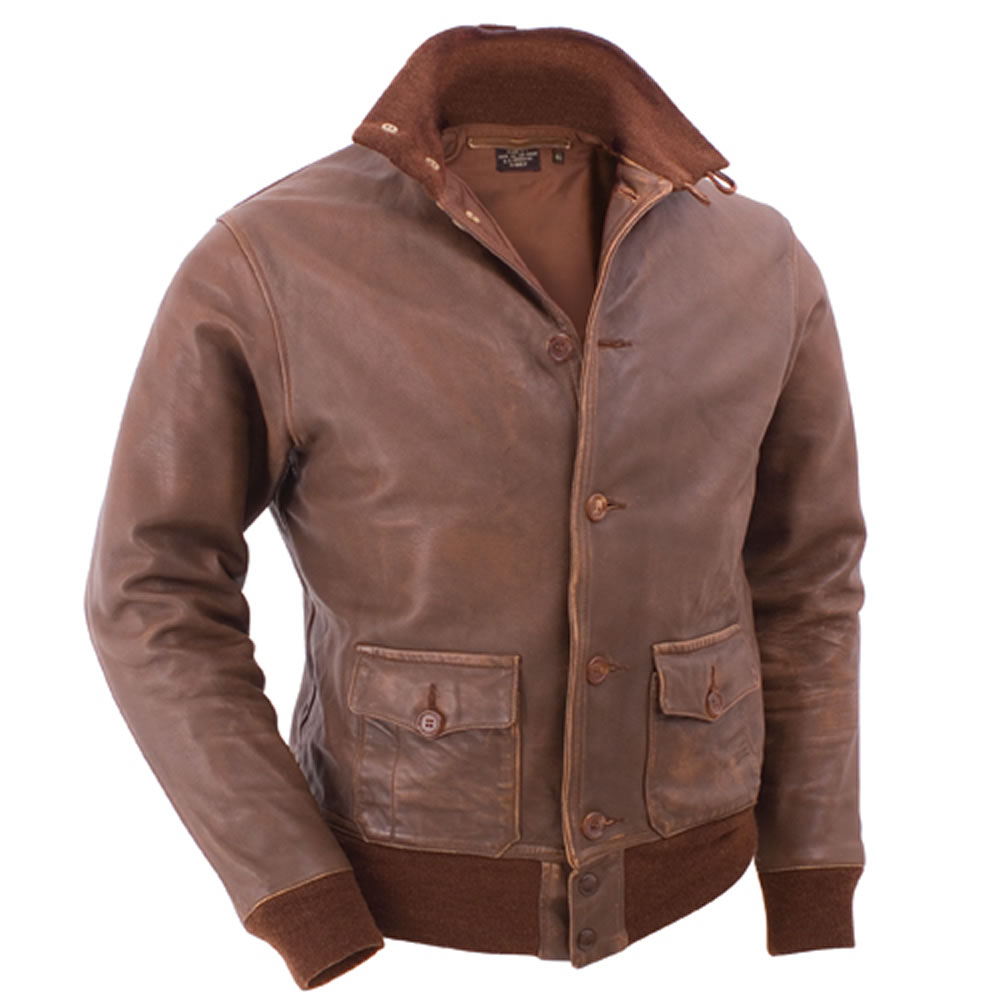 Leather pilots jacket