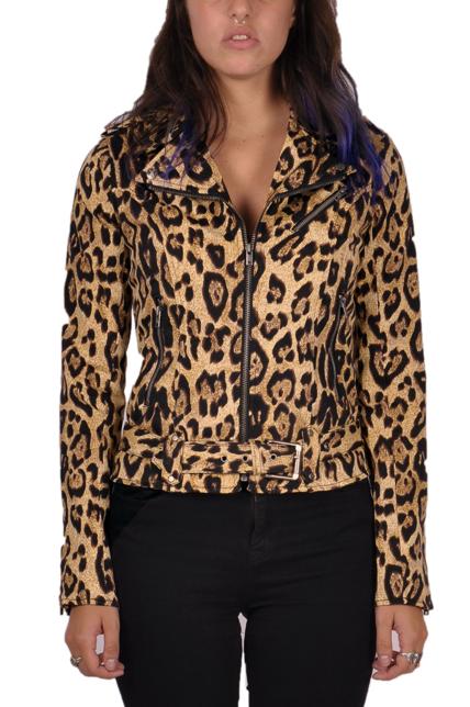 Leopard leather jacket