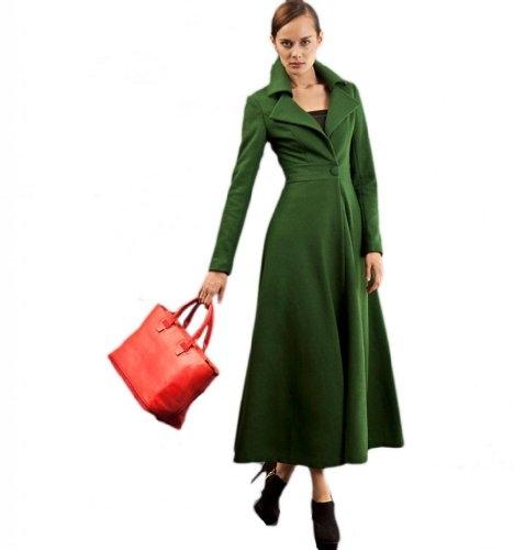 Womens Green Coat Photo Album - Reikian