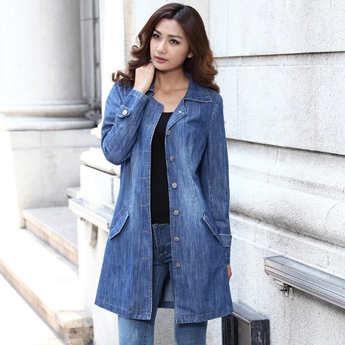Ladies Long Denim Jacket | Outdoor Jacket