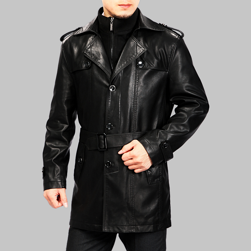 Long coat leather jacket – Modern fashion jacket photo blog