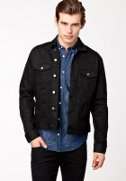 Mens Black Jean Jacket
