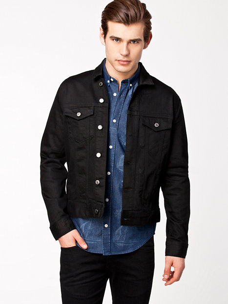 Discover the range of men's denim jackets from ASOS. Shop from a variety of colors and styles, from vintage to oversized denim jackets. Shop now at ASOS. Bershka denim jacket in black with fleece collar and lining. $ Bershka Denim Jacket In Blue. $ ASOS DESIGN Oversized Denim Jacket In Black Stripe.