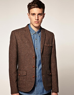 Brown Tweed Blazer Photo Album - Reikian