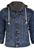 Mens Hooded Jean Jacket