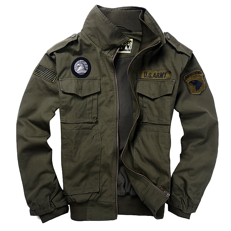 Textile Jackets Here are other popular men's Military-style Jackets, designed in Leather, Cotton, Polyester and Nylon. Choose from MA-1, Cold Weather Parkas, Field Jackets, Flight Jackets, and other military jackets for sale.