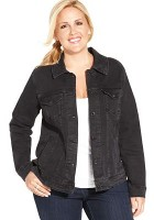 Plus Size Black Jean Jacket
