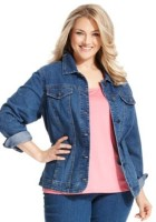 Plus Size Blue Jean Jacket