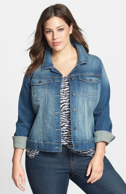 Plus Size Blue Jean Jackets