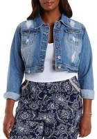 Plus Size Crop Jean Jacket