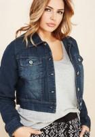 Plus Size Crop Jean Jacket