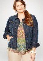 Plus Size Jeans Jacket