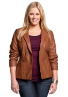 Plus Size Leather Jackets for Women