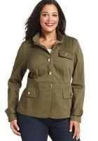 Plus Size Military Jacket