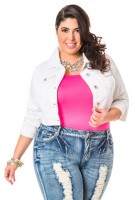 Plus Size White Jean Jacket