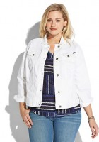 Plus Size White Jean Jacket