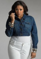 Short Jean Jacket Plus Size