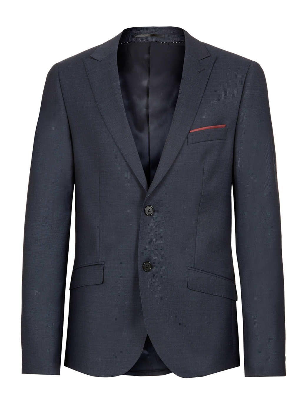 Fit: Find a coat that fits you well and will sit comfortably over the suit jacket. Style: Check out a few styles before you decide to buy a coat. Peacoat: This coat's double-breasted design works well with a suit.